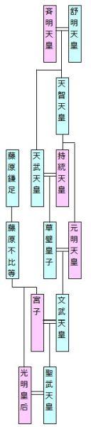 通常家系図 - 古代皇室・藤原家 1
