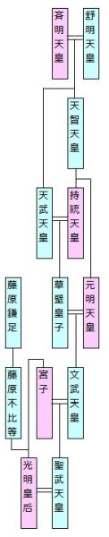 通常家系図 - 古代皇室・藤原家 2