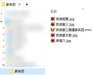 写真ファイル - 家系図ファイルと同フォルダ