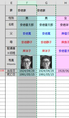 関連年表更新 - 列コピー